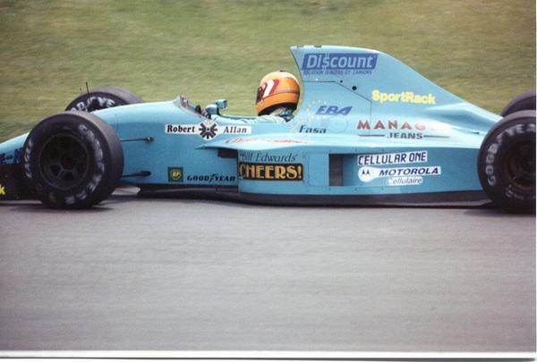 Karl Wendlinger driving the crowd-funded March CG911 around Montreal to a 4th place finish.